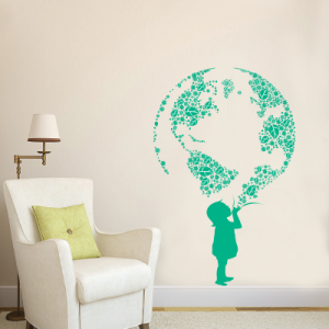 Αυτοκόλλητο τοίχου οικολογική συνείδηση