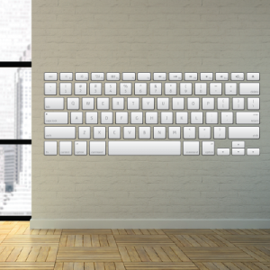 Αυτοκόλλητο τοίχου πληκτρολόγιο