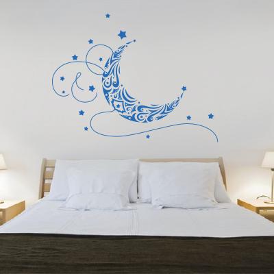5b1baecaa22 Αυτοκόλλητο τοίχου φεγγάρι - Διακόσμηση παιδικού δωματίου