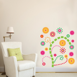 Αυτοκόλλητο τοίχου χρωματιστά σχέδια