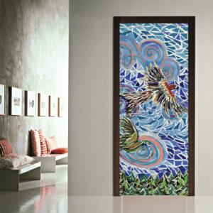 # Αυτοκόλλητο πόρτας έργο τέχνης με πουλιά - Sticker Box