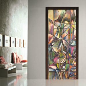 # Αυτοκόλλητο πόρτας αφηρημένη τέχνη - Sticker Box