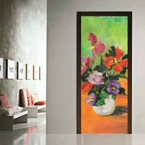 # Αυτοκόλλητο πόρτας βάζο με λουλούδια - Sticker Box