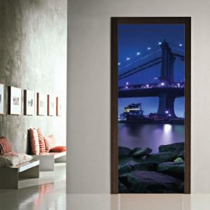 # Αυτοκόλλητο πόρτας γέφυρα Νέα Υόρκη - Sticker Box