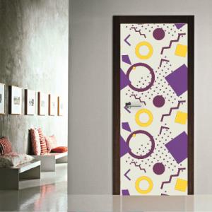 # Αυτοκόλλητο πόρτας γεωμετρικά σχήματα λευκό - Sticker Box