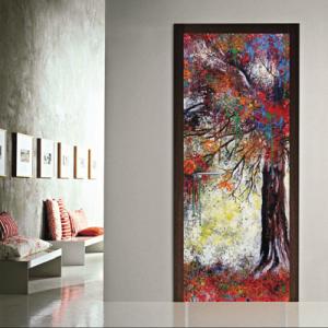 # Αυτοκόλλητο πόρτας δέντρο με χρώματα - Sticker Box