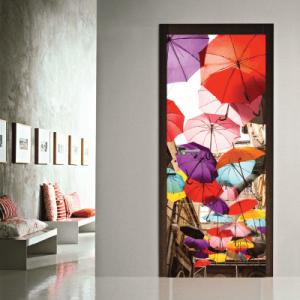 # Αυτοκόλλητο πόρτας δρόμος με ομπρέλες - Sticker Box
