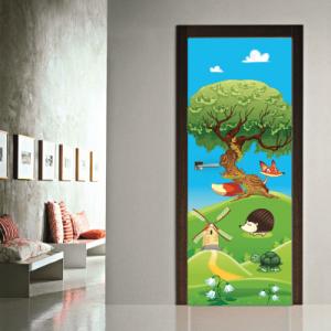 # Αυτοκόλλητο πόρτας ζωάκια στο δάσος - Sticker Box