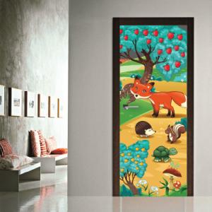 # Αυτοκόλλητο πόρτας ζωάκια του δάσους - Sticker Box