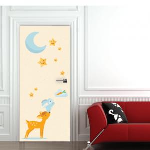 # Αυτοκόλλητο πόρτας ζωάκια φίλοι - Sticker Box
