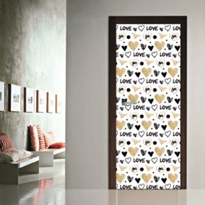 # Αυτοκόλλητο πόρτας καρδιές love - Sticker Box