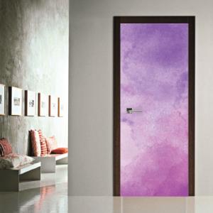 # Αυτοκόλλητο πόρτας λιλά σύννεφα - Sticker Box