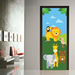 # Αυτοκόλλητο πόρτας με ζώα - Sticker Box
