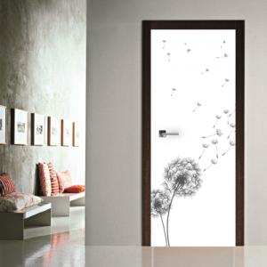 # Αυτοκόλλητο πόρτας με λουλούδια κλέφτες - Sticker Box
