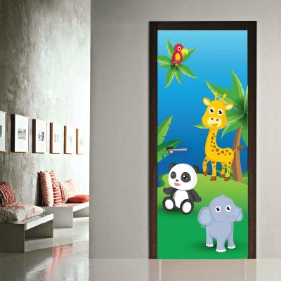 104bd4daaf5 Αυτοκόλλητο πόρτας μικρά ζωάκια