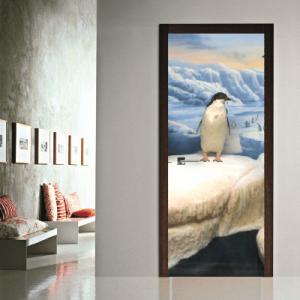 # Αυτοκόλλητο πόρτας μικρός πιγκουίνος - Sticker Box