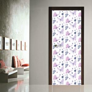 # Αυτοκόλλητο πόρτας μοβ πεταλούδες - Sticker Box
