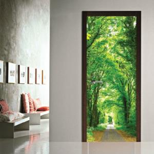 # Αυτοκόλλητο πόρτας μονοπάτι στο δάσος - Sticker Box