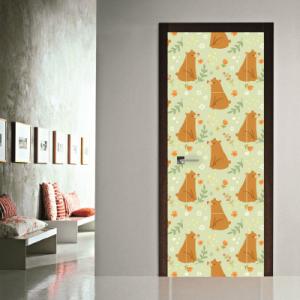 # Αυτοκόλλητο πόρτας μοτίβο αρκούδες - Sticker Box
