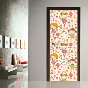 # Αυτοκόλλητο πόρτας μοτίβο για κορίτσια - Sticker Box