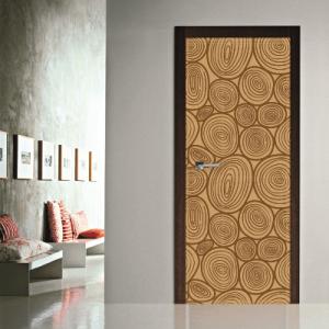 # Αυτοκόλλητο πόρτας μοτίβο κορμοί δέντρων - Sticker Box