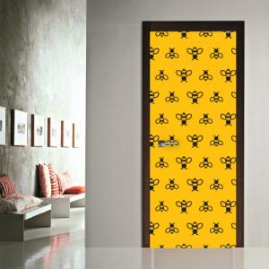 # Αυτοκόλλητο πόρτας μοτίβο μέλισσες - Sticker Box