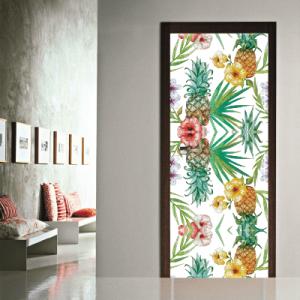 # Αυτοκόλλητο πόρτας μοτίβο με ανανά - Sticker Box