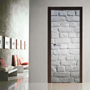 # Αυτοκόλλητο πόρτας μοτίβο με λευκή πέτρα - Sticker Box