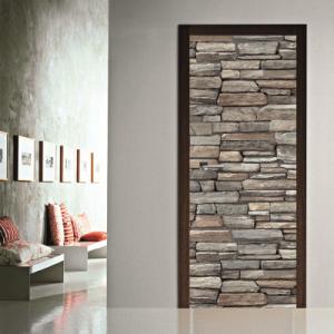 # Αυτοκόλλητο πόρτας μοτίβο με πέτρα - Sticker Box