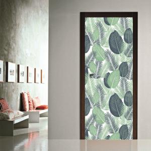 # Αυτοκόλλητο πόρτας μοτίβο με φύλλα - Sticker Box