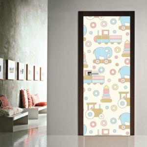 # Αυτοκόλλητο πόρτας μοτίβο παιδικά παιχνίδια - Sticker Box