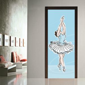 # Αυτοκόλλητο πόρτας μπαλαρίνα - Sticker Box