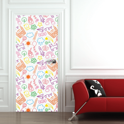 9e549cf2b9b Αυτοκόλλητο πόρτας παιδικά σχέδια