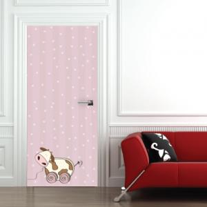 # Αυτοκόλλητο πόρτας παιχνίδι αγελάδα - Sticker Box