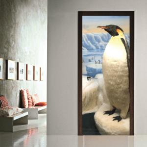 # Αυτοκόλλητο πόρτας πιγκουίνος - Sticker Box