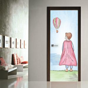 # Αυτοκόλλητο πόρτας πρίγκιπας και αερόστατο - Sticker Box
