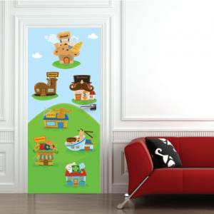 # Αυτοκόλλητο πόρτας σπιτάκια - Sticker Box