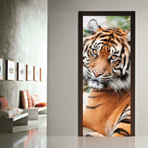 # Αυτοκόλλητο πόρτας τίγρης - Sticker Box