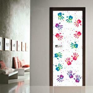 # Αυτοκόλλητο πόρτας χρωματιστές παλάμες - Sticker Box