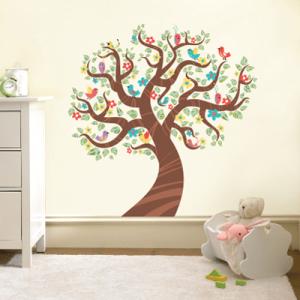 # Αυτοκόλλητο τοίχου δέντρο με πουλιά - Sticker Box