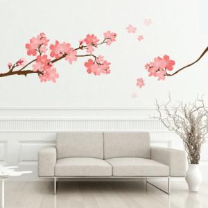 Αυτοκόλλητο τοίχου δέντρο την άνοιξη