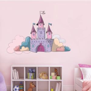 # Αυτοκόλλητο τοίχου κάστρο στα σύννεφα - Sticker Box