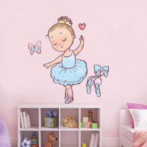 # Αυτοκόλλητο τοίχου μπαλαρίνα με στέμμα 2 - Sticker Box