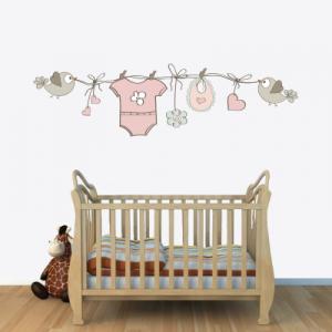 # Αυτοκόλλητο τοίχου μωρουδιακά ρούχα - Sticker Box