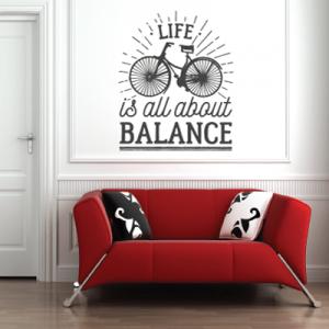 # Αυτοκόλλητο τοίχου ποδήλατο balance - Sticker Box