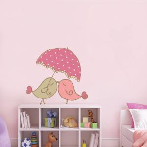 # Αυτοκόλλητο τοίχου πουλιά στη βροχή - Sticker Box