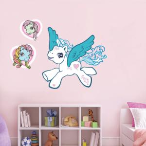 # Αυτοκόλλητο τοίχου πόνι με φτερά - Sticker Box