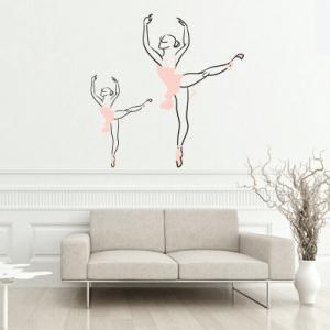 # Αυτοκόλλητο τοίχου σκίτσο μπαλαρίνες - Sticker Box