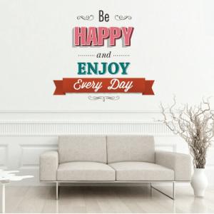 # Αυτοκόλλητο τοίχου be happy - Sticker Box