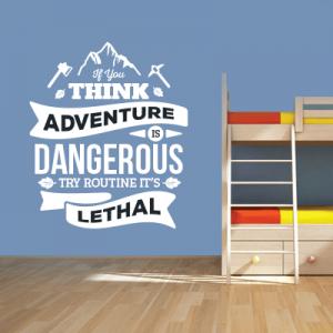 # Αυτοκόλλητο τοίχου think adventure - Sticker Box
